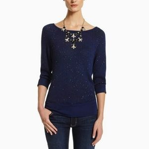 WHBM Navy Blue Sequin Sweater